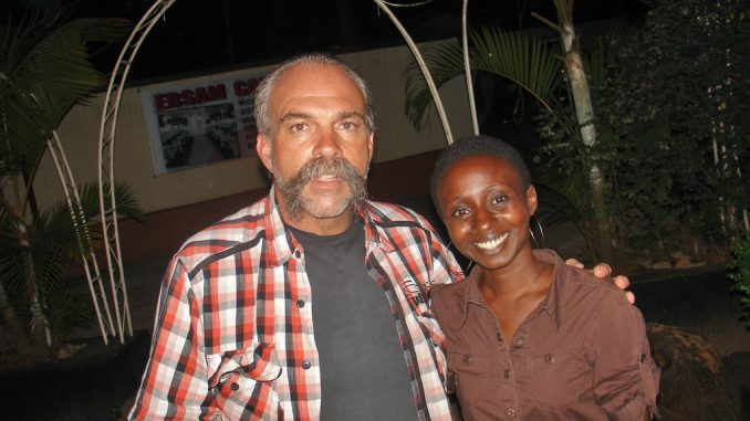 Missionary Sam Childers with the Author-Kampala Dispatch photo