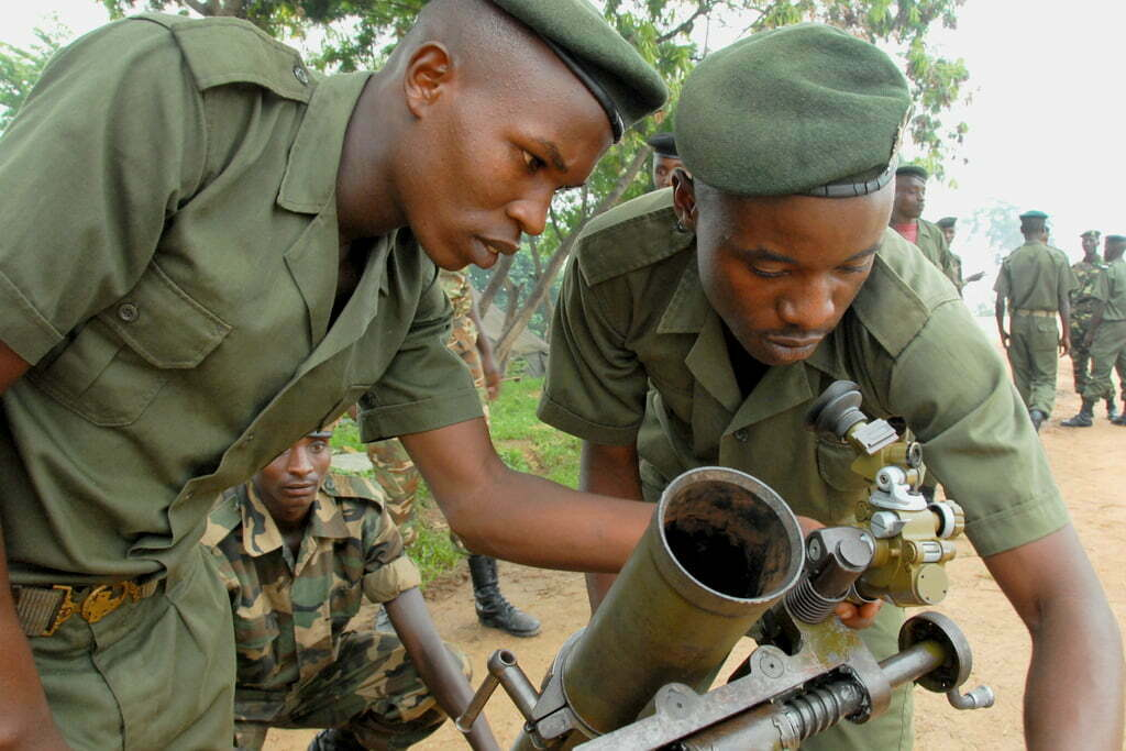 Burundi soldiers training for a Somali mission.