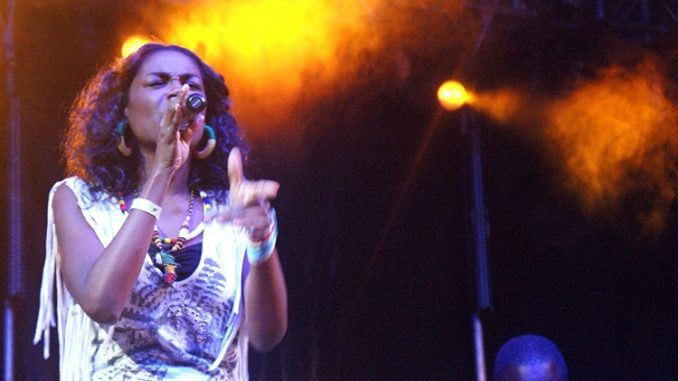 Giovanca performing at a music festival