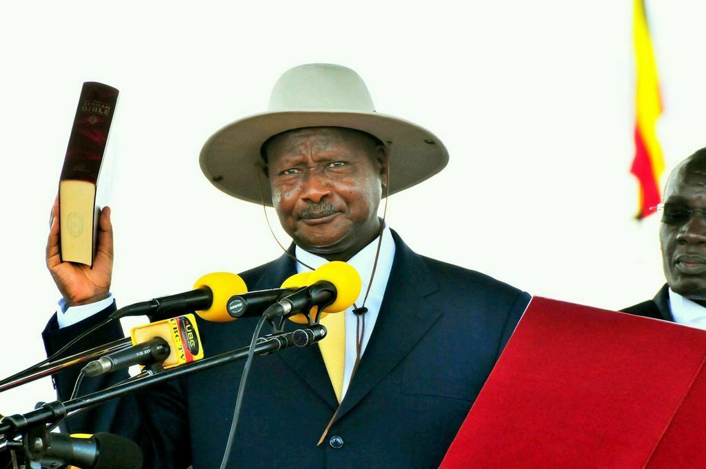Incumbent President Museveni sworn in for fifth term