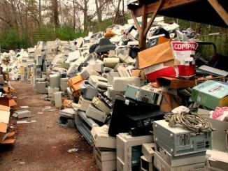 E-waste pilled up in storage due to lack of disposal opportunities