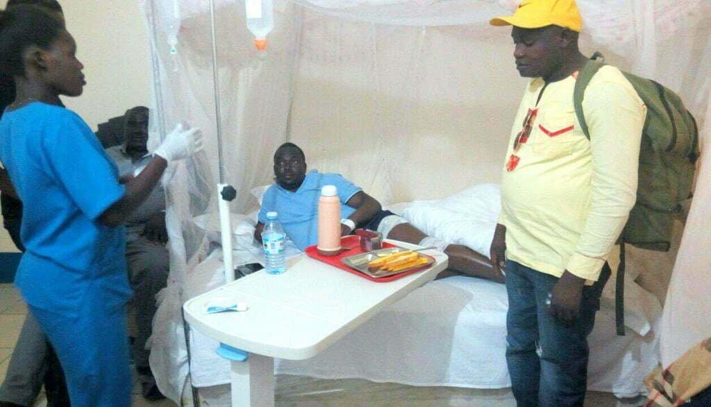 Richard Todwong at Gulu Independent Hospital