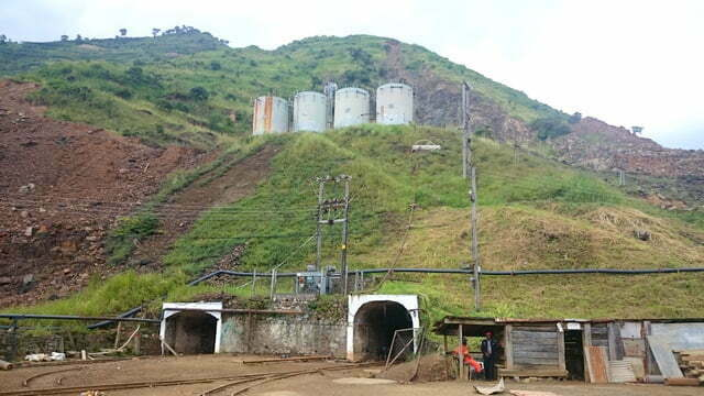 Mine shaft leading to the copper ore in the foothills of Mountain Rwenzori