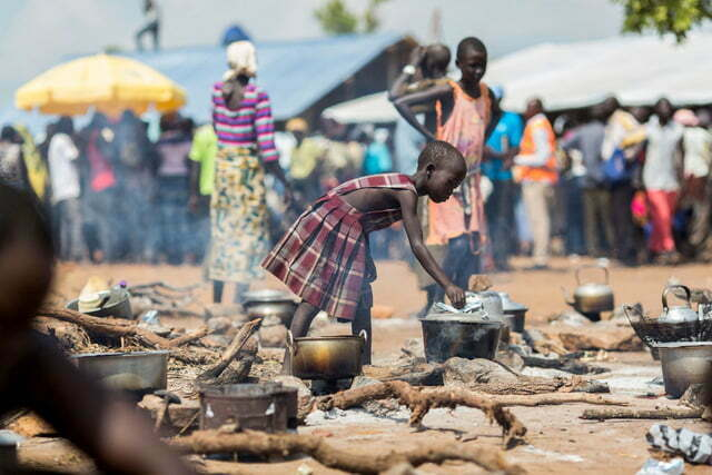 South Sudan refugees in Uganda