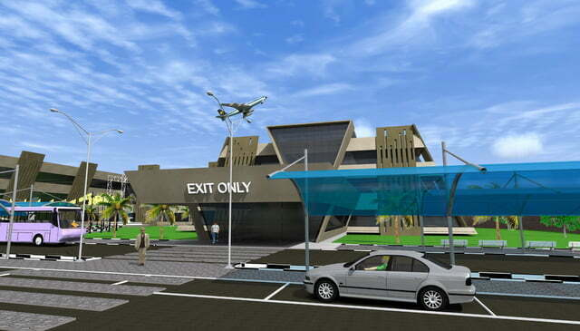 Artistic impression – Exit section  of Entebbe International Airport