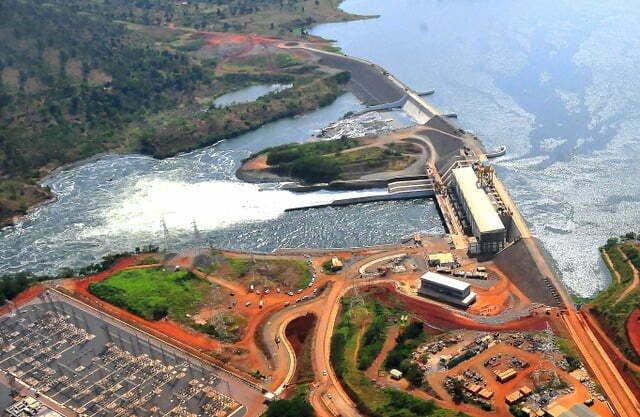 Aerial Bujagali Hydropower