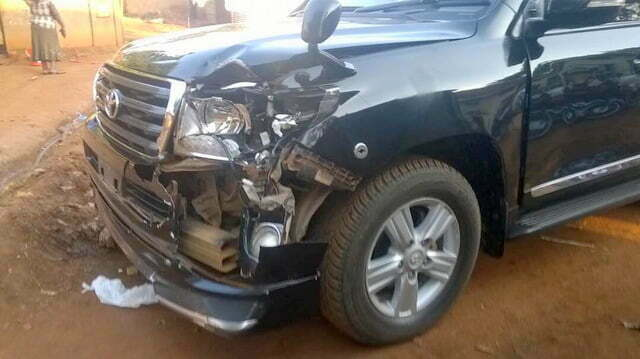 NRM Secretary General, Justine Lumumba Kasule car involved in an accident