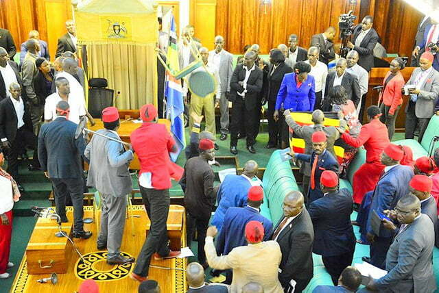 Chaos in Parliament of Uganda over age limit debate