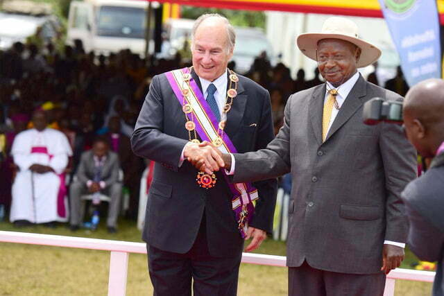 President Yoweri Museveni with His Highness, the Aga Khan