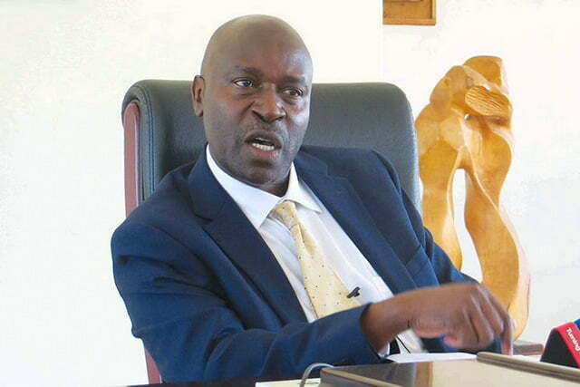 Kyambogo-University-acting-vice-chancellor-Prof-Eli-Katunguka-Rwakishaya-addressing-the-press