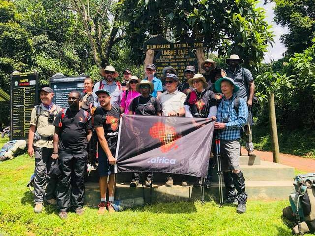 Celebrating the bright continent as dotAfrica flag treks to Kilimanjaro