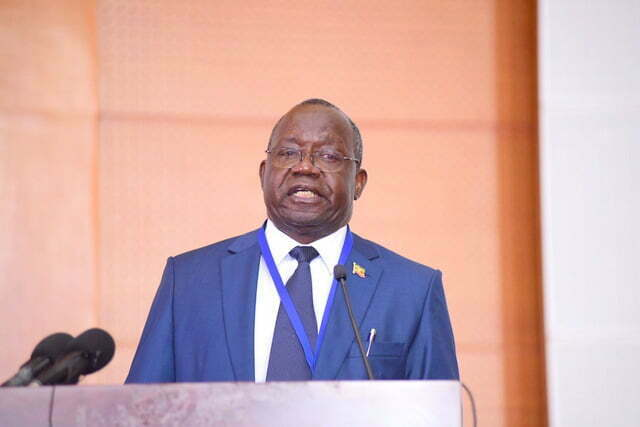 Dan Odong, the UNEB executive Secretary speaking at the release of PLE results for 2017