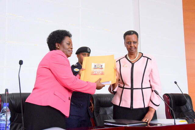 Education Minister Janet Museveni officially releases the PLE results