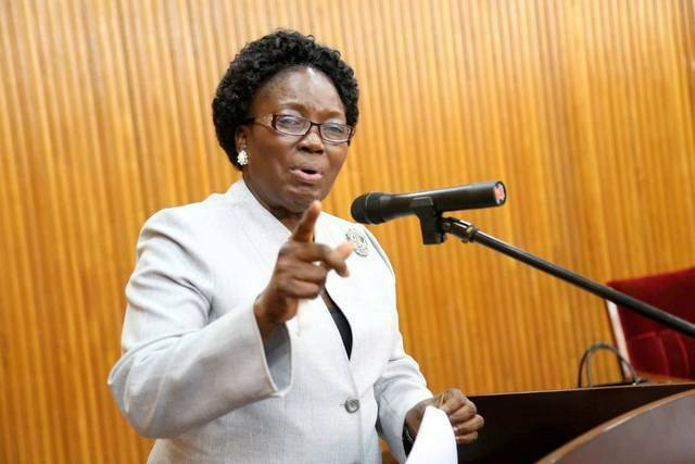 The Speaker of Parliament Rebecca Kadaga