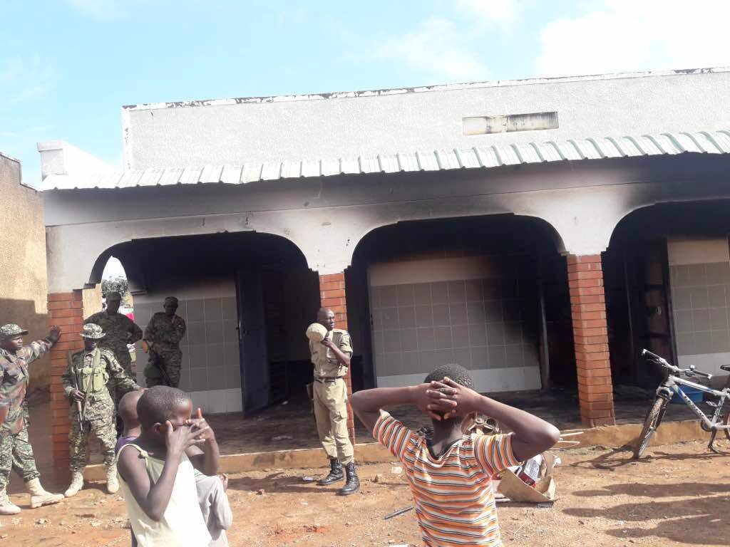 Business premises and offices of Nebbi NRM chairperson was set ablaze Saturday morning