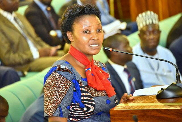 The outgoing Leader of the Opposition in Parliament, Hon. Winfred Kiiza