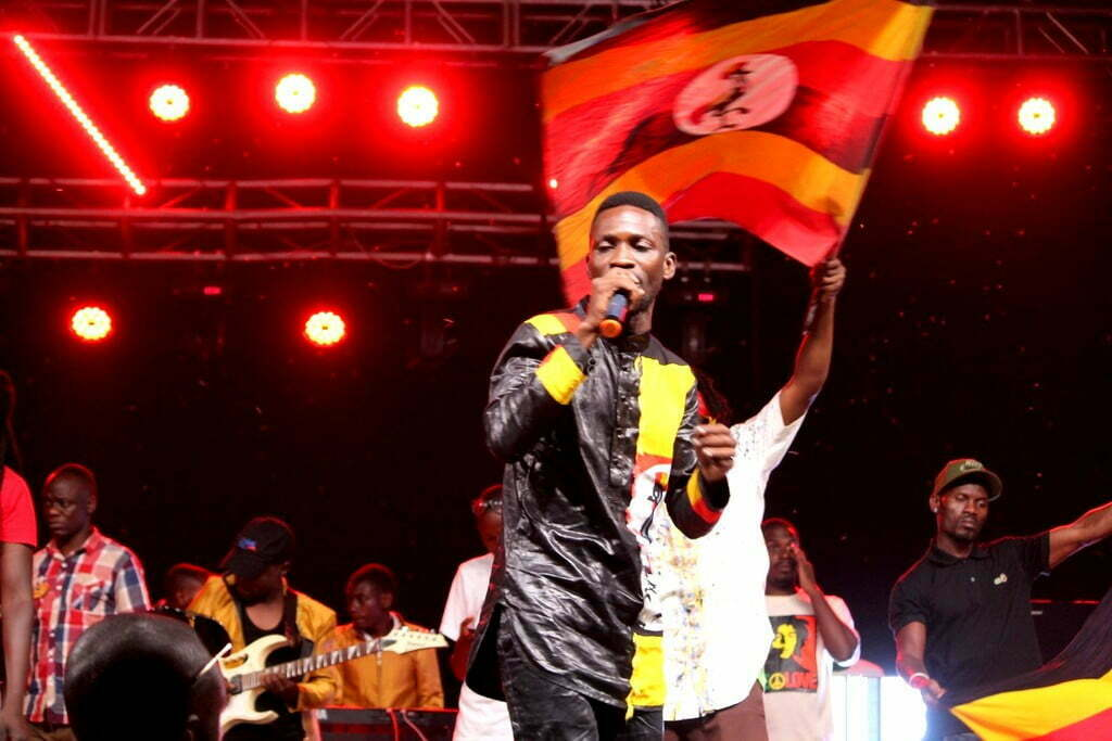 Bobi Wine performing at Specioza Live Concert