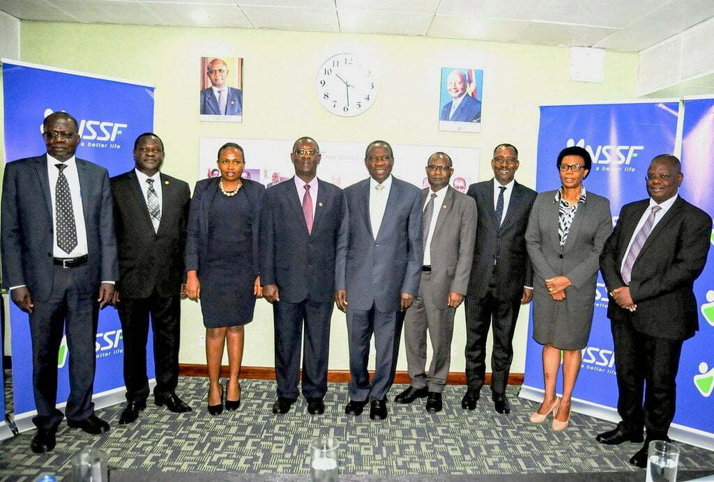 11th NSSF board inaugurated by Finance Minister Matia Kasaija