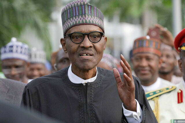 Nigeria's President Muhammadu Buhari is seen at Nnamdi Azikiwe airport in Abuja after his return from three months medical trip in Britain