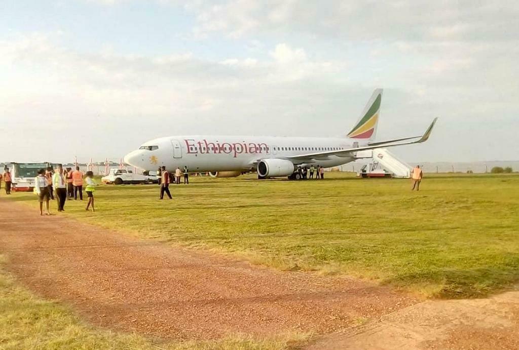Ethiopian passenger plane that overshot the runway