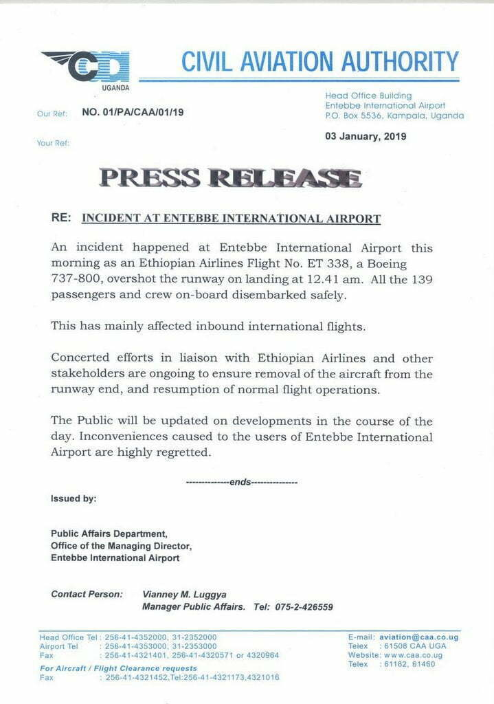 Incident at Entebbe International Airport