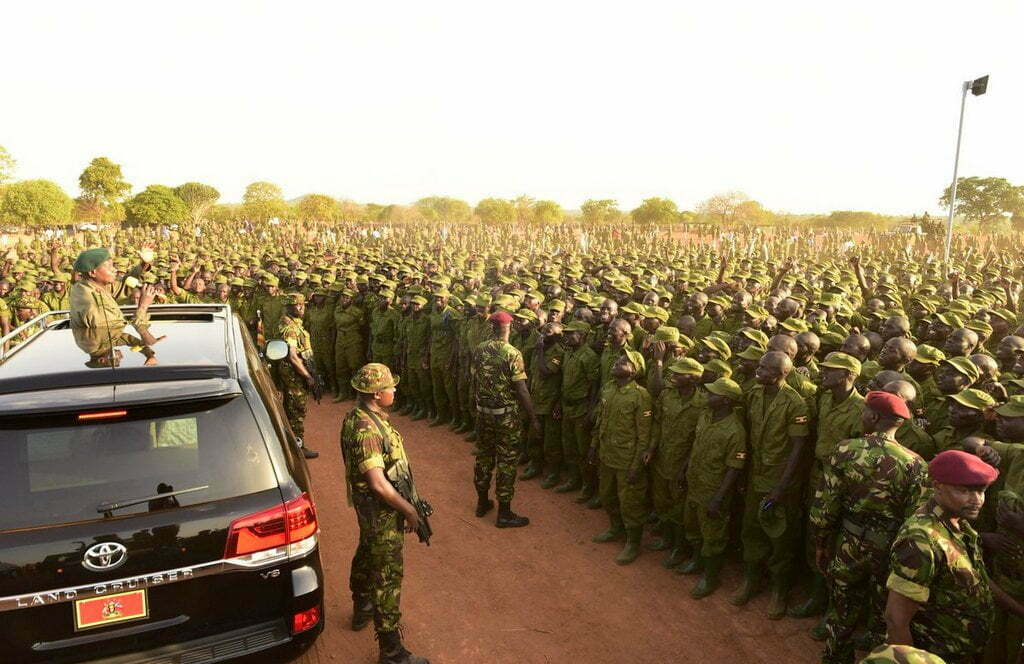 President Museveni passed out 6,239 Local Defence Unit (LDU) trainees at Kaweweta Military Training School
