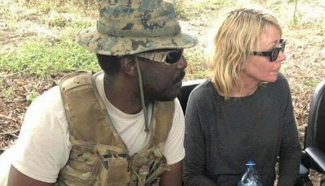 Kidnapped American tourist Kimberly Sue Endicott, her Ugandan tour guide Jean Paul rescued