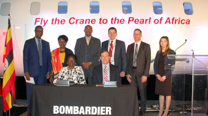 Bombardier celebrates delivery of first CRJ900 aircraft to Uganda Airlines