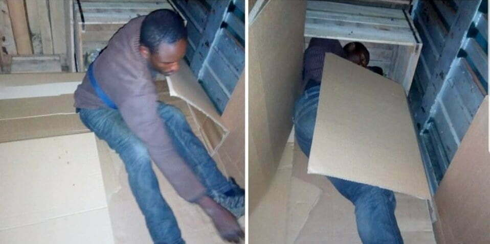 Uganda Revenue Authority impounds a container carrying people