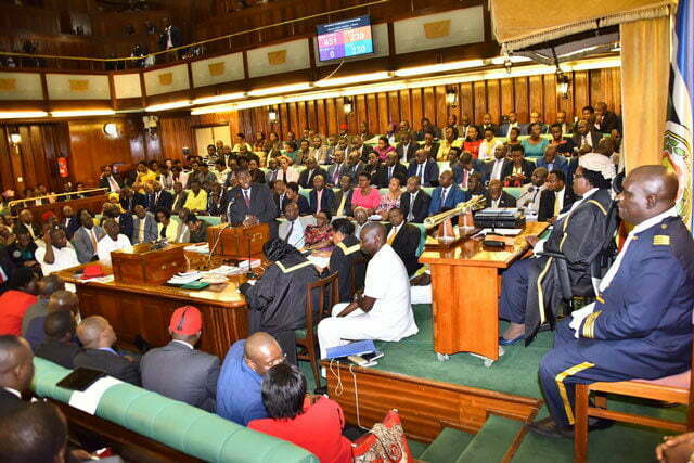Parliament of Uganda in session