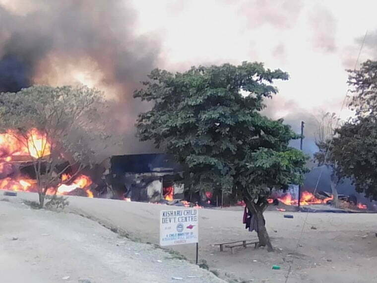 A fuel tanker blast in Rubirizi District