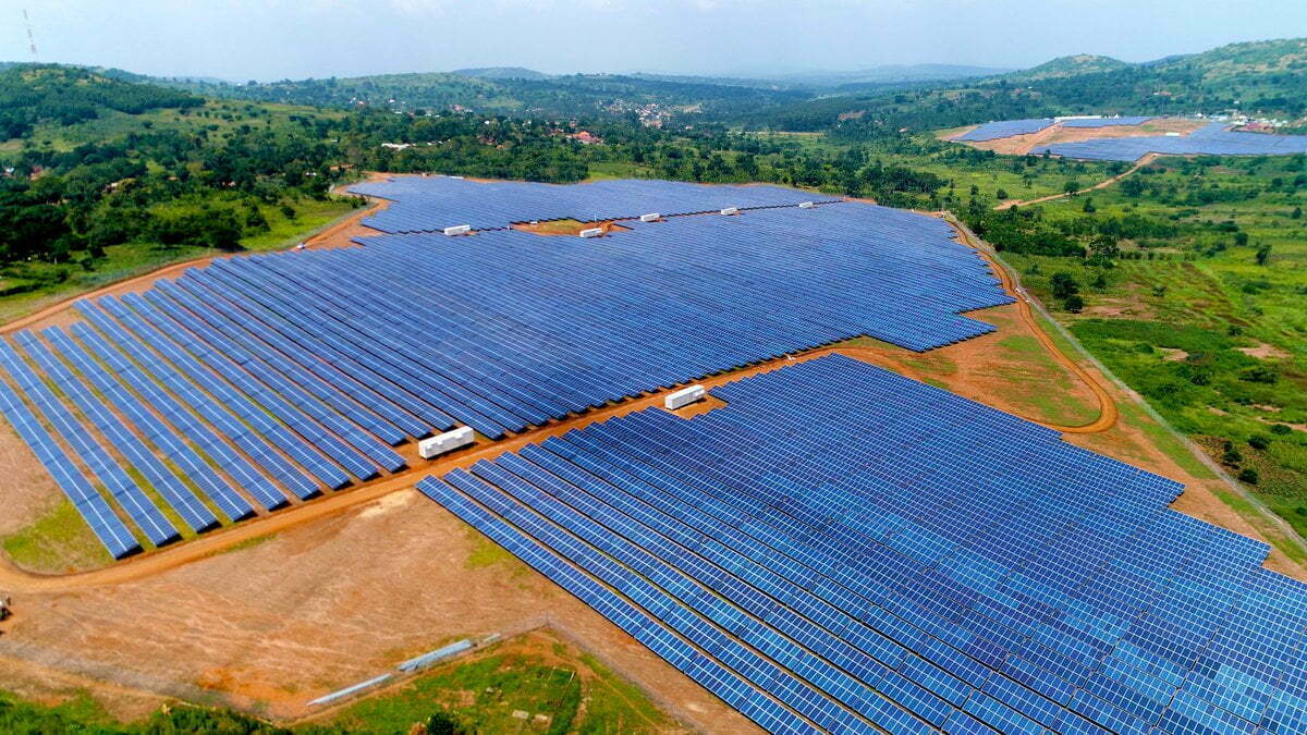 Gomba district solar power plant