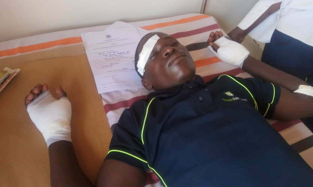Baker Kasumba in hospital