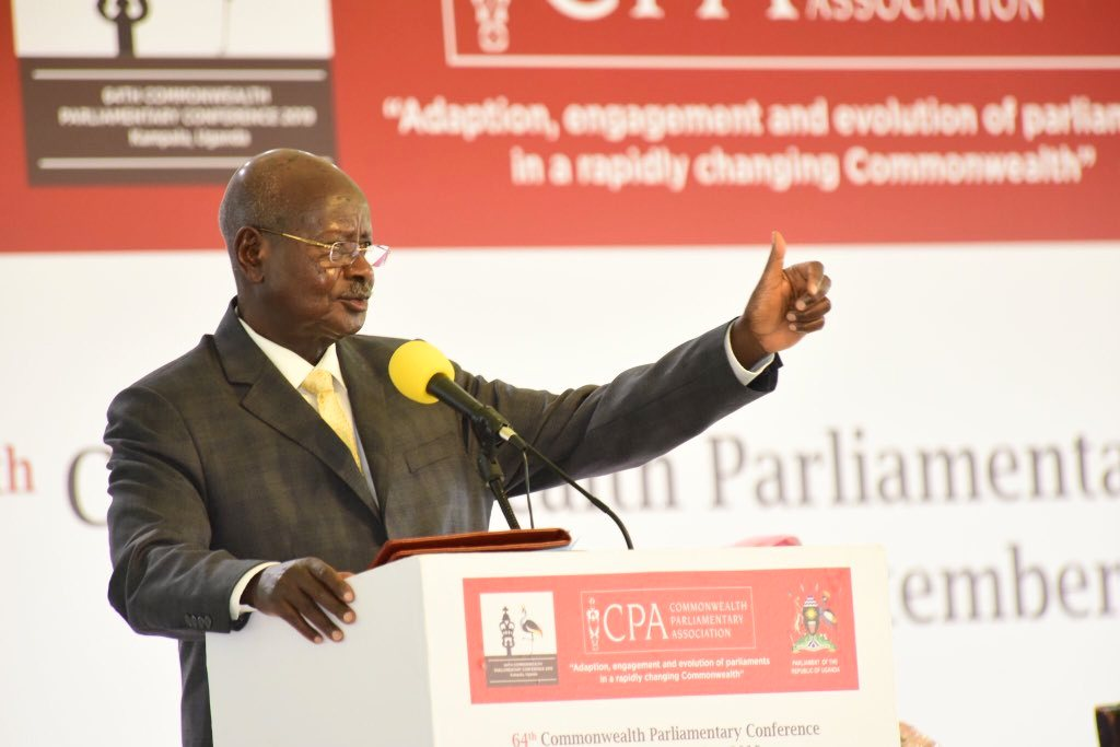 Museveni's full speech at 64th Commonwealth Parliamentary Conference