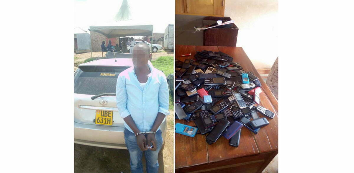 police arrest thugs with stolen phones