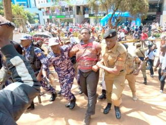 Drama as former Amama Mbabazi bodyguard stages 'armed' protest in Kampala