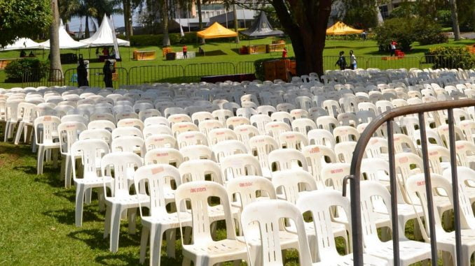 Demand for plastic chairs in Kampala high ahead of New Year festivities