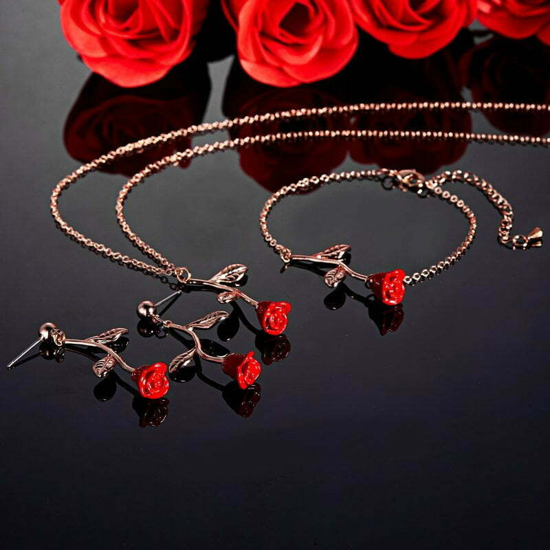 Earrings, necklaces, bracelets valentine's day gifts