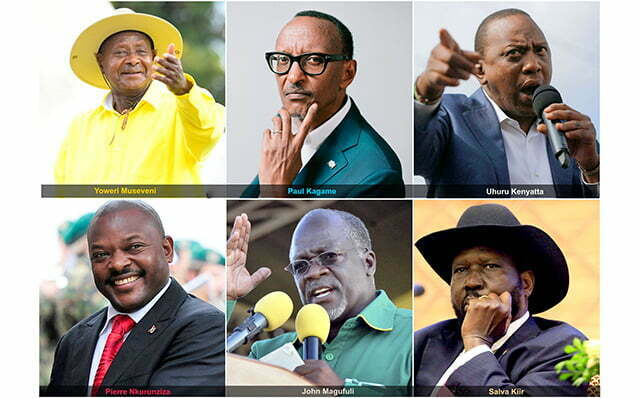 East African Community (EAC) Presidents 2020