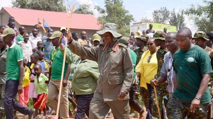 Museveni, bush war veterans end six day long trek