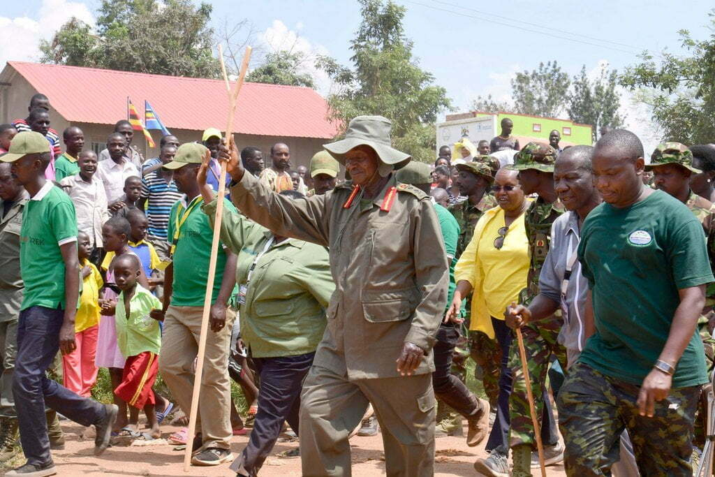 President, Yoweri Kaguta Museveni and the bush war veterans concluded their 6-day long trek retracing routes used by National Resistance Army-NRA fighters during their liberation struggle