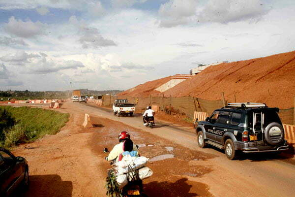 Section of the Northern Bypass under construction at Lubigi on February 24, 2019