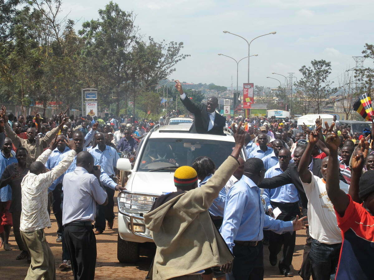 Besigye-supporters-ride-to-greet-their-candidate-in-Kabale-Edward-Echwalu