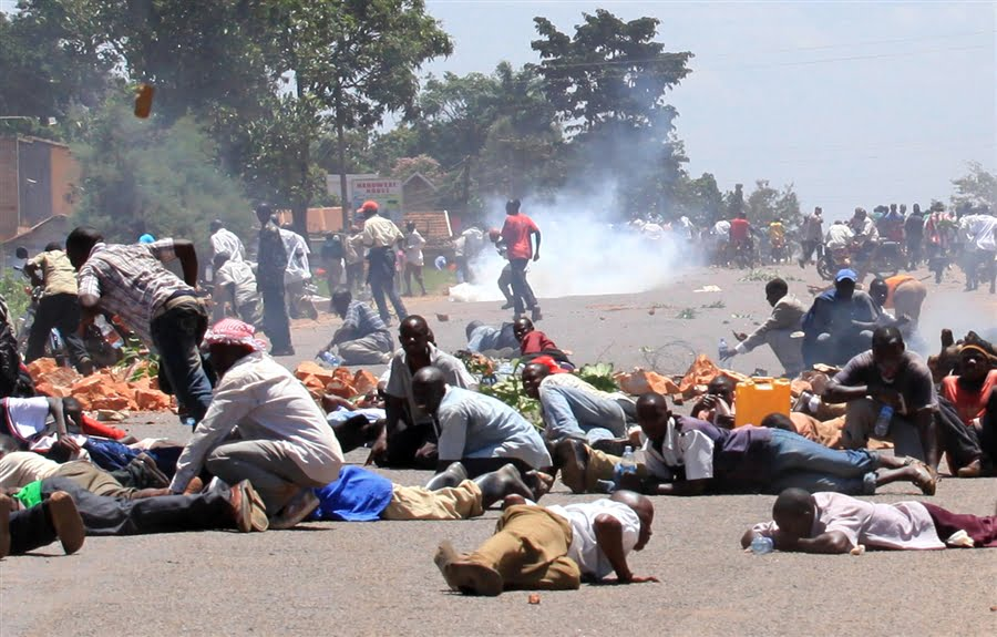 Riots – Scenes of demonstrations like this were very common this year – Kalyegira Photo