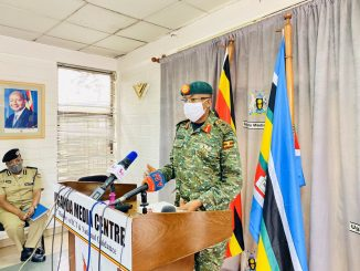 Brig. Richard Karemire, the UPDF spokesperson at Uganda Media Centre