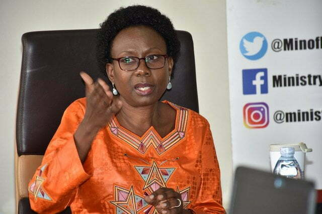 The Minister of Health Dr Jane Ruth Aceng
