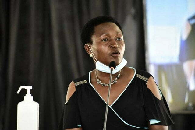 The Minister of State for Education and Sports, Rosemary Sseninde