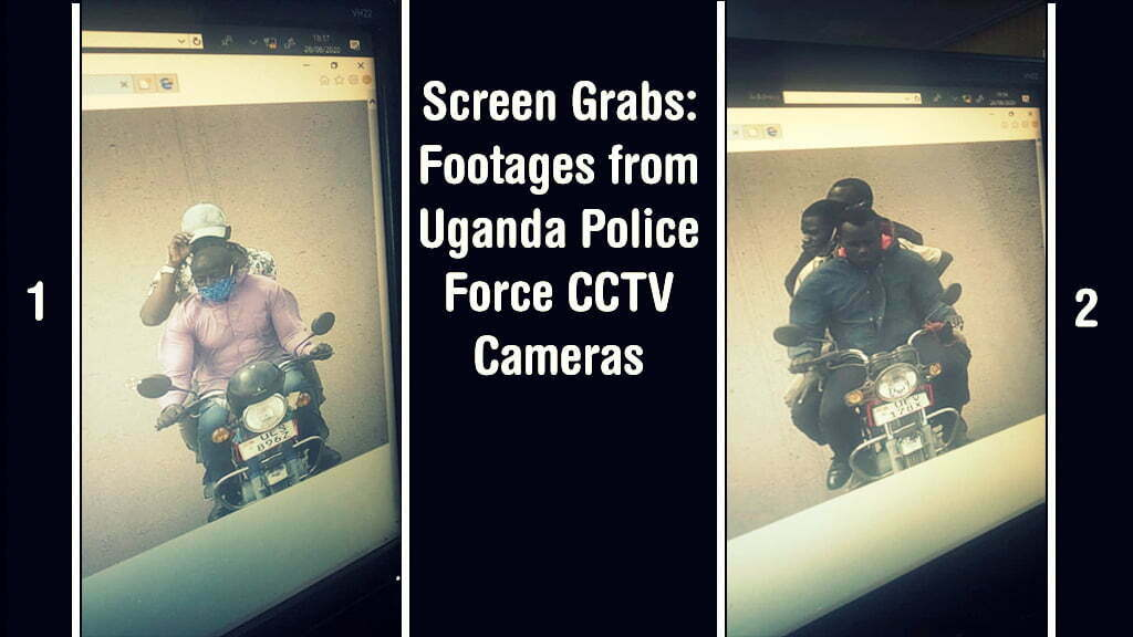 Screen Grabs – Footages from Uganda Police Force CCTV Cameras