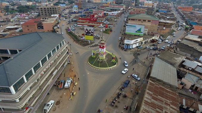 Aerial view of Mbarara town