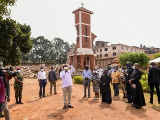 Ndeeba-Demolished-church-Museveni-visits-scene